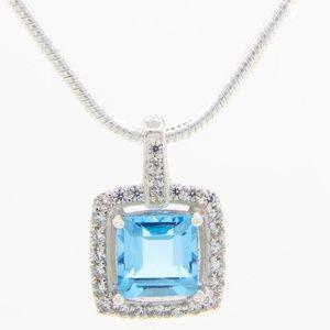 Jewelry - Genuine Topaz 925 Sterling Silver Necklace